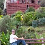 Michael outside his Wombara house